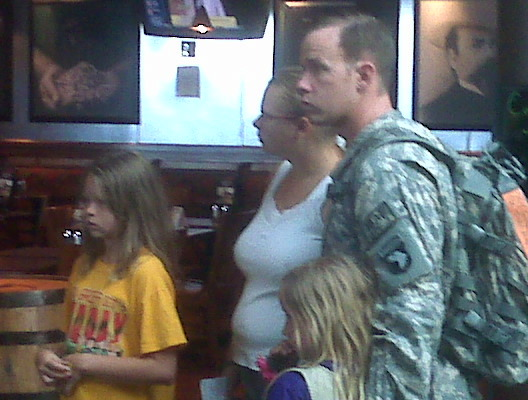 military family at Nashville airport